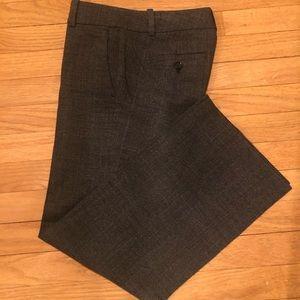 Ann Taylor Gray Printed Work Pants
